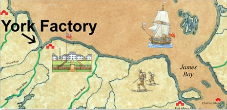 Historic Map of York Factory and the Bay