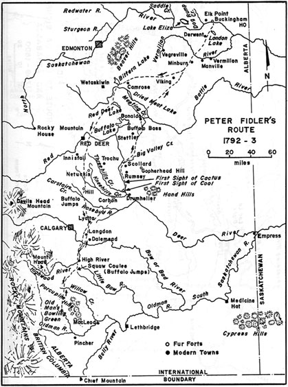 Peter Fidler's Route 1792-93